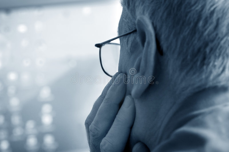 Concentrate man stock images