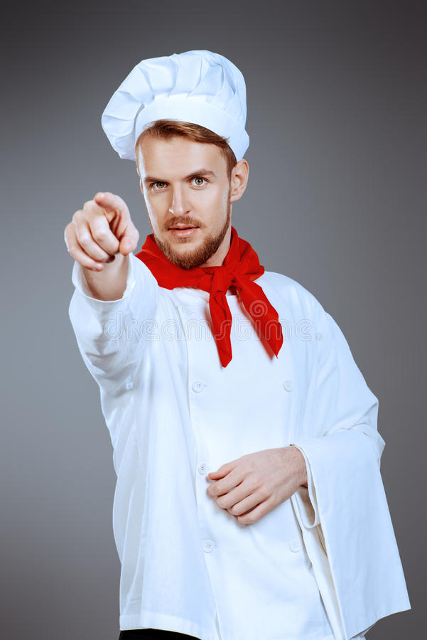 Concentrated cook stock photos
