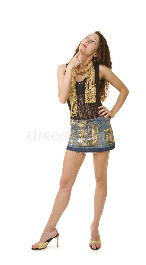 Concentrated girl royalty free stock photo