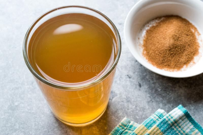 Concentrated Herbal Tea Powder for Stomach Gastric Problem / Lemon Flavored royalty free stock photography
