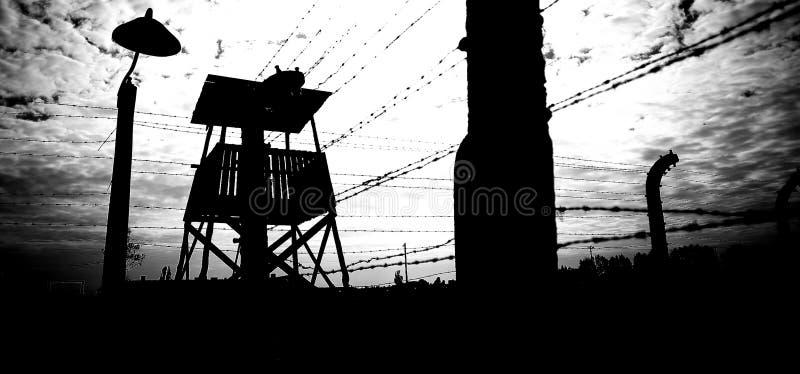 Concentratiekamp Auschwitz Birkenau royalty-vrije stock foto's