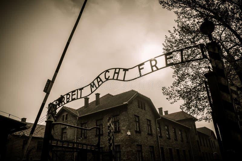 Concentratiekamp Auschwitz I, Polen stock foto's