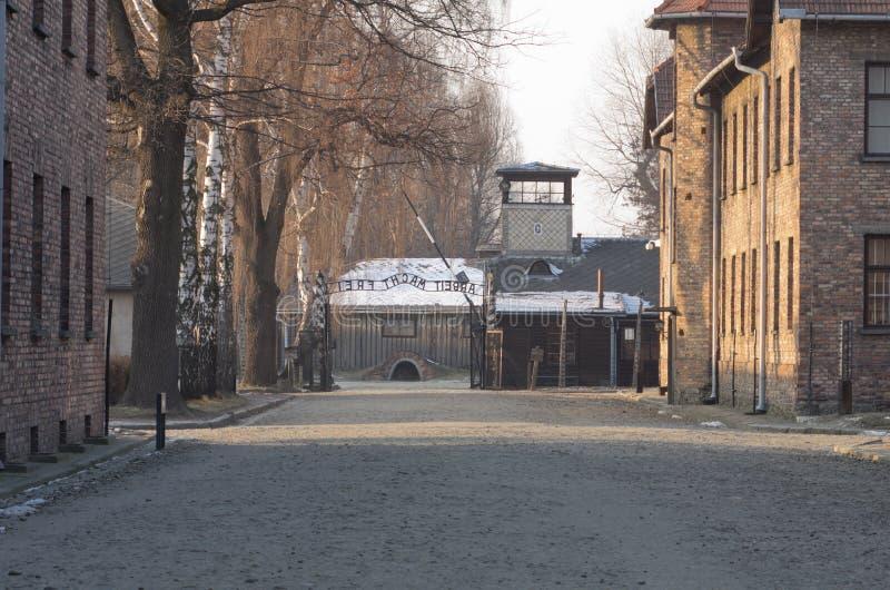 Concentratiekamp Oswiecim/Auschwitz, Polen royalty-vrije stock afbeeldingen