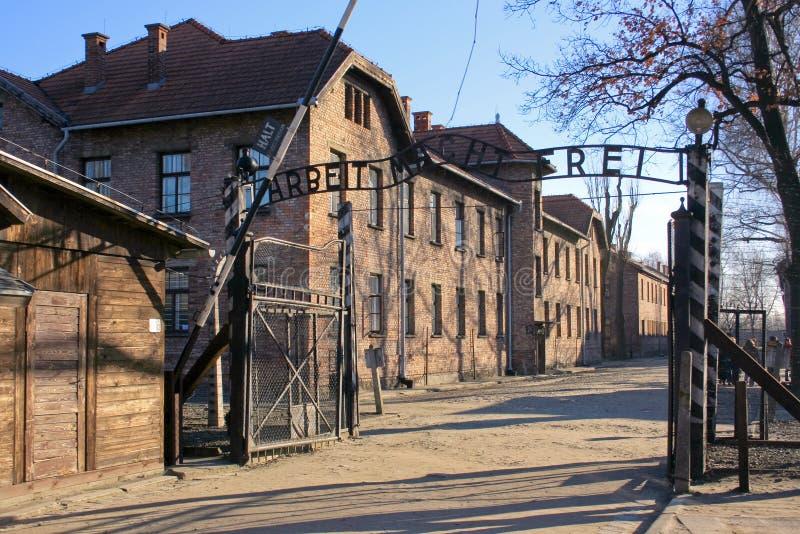 Concentratiekamp in Polen royalty-vrije stock foto