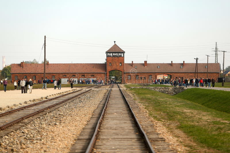 Concentration Camp Auschwitz Birkenau. stock photography