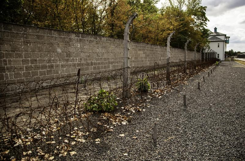 Concentration camp in Berlin. Detail of holocaust royalty free stock image