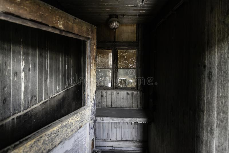 Concentration camp in Berlin. Detail of holocaust and extermination, green, landscape, tree, death, tourism, main, entrance, execution, metal, nazi, government stock images