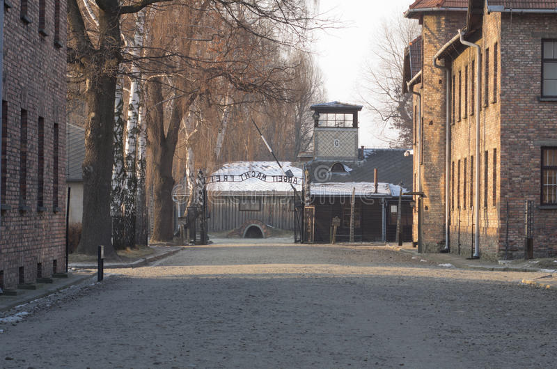 Concentration camp Oswiecim / Auschwitz,Poland royalty free stock images