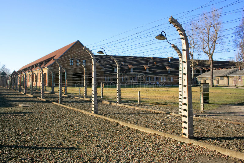 Concentration camp in Poland. The concentration camp of Birkenau near Cracow in Poland stock photos