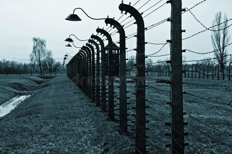 Concentration and extermination camps. Photo Nazi Germany's concentration and extermination camps stock photo