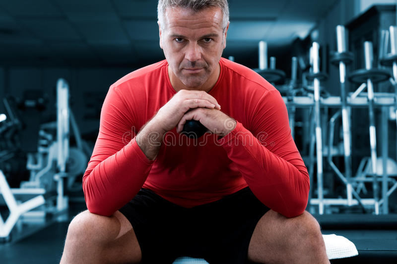 Concentration At Gym Royalty Free Stock Images