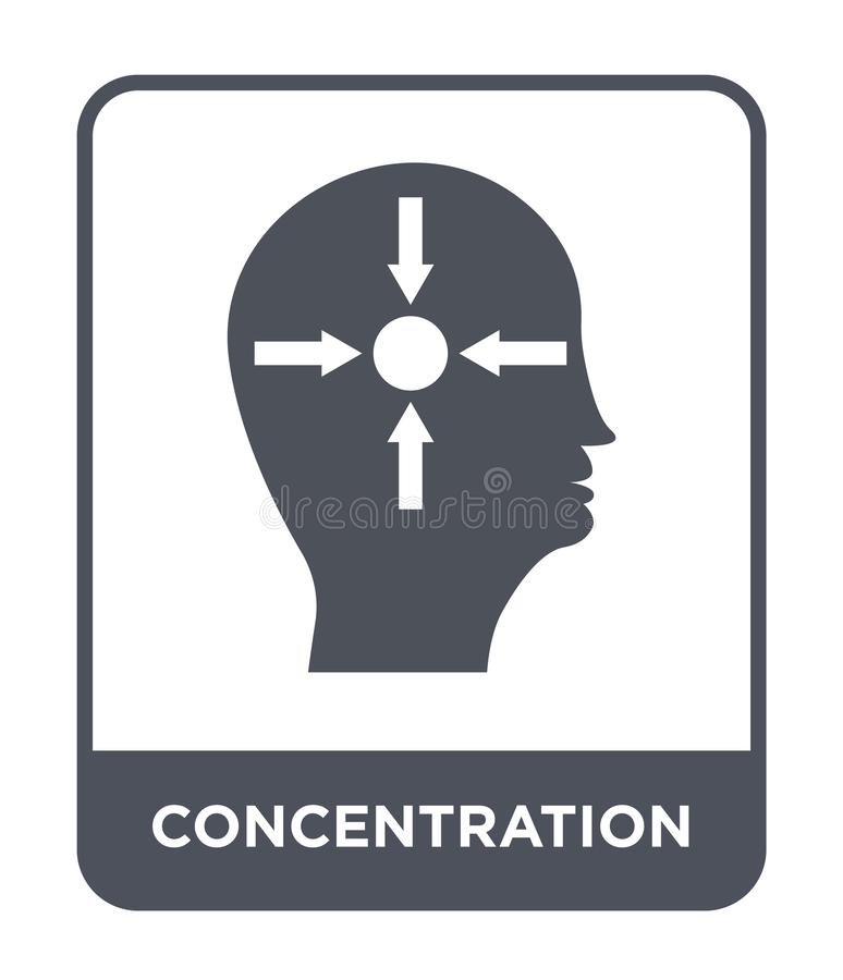 Concentration icon in trendy design style. concentration icon isolated on white background. concentration vector icon simple and. Modern flat symbol for web royalty free illustration