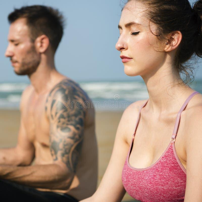 Concentration Serene Relaxation paisible de méditation de yoga image stock