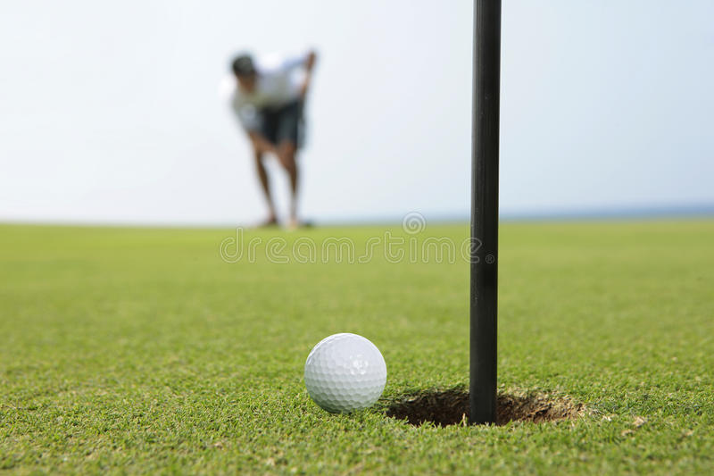 Concentrazione di golf fotografia stock libera da diritti