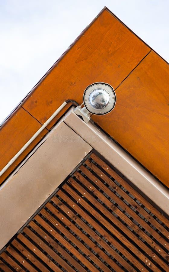 Concentrez sur l'appareil-photo de télévision en circuit fermé de sécurité ou le système de surveillance photo libre de droits