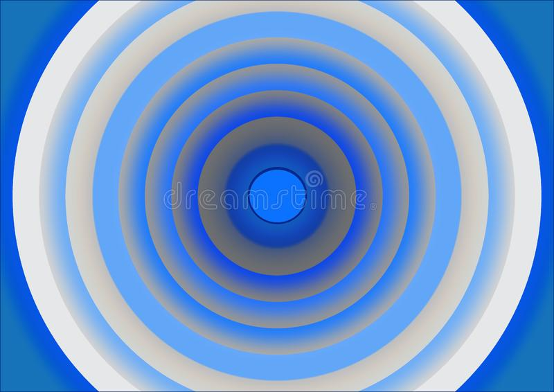 Download Concentric circles stock illustration. Illustration of flowing - 6453204