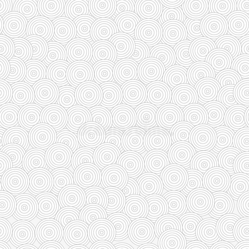 Concentric circles. Monochrome seamless pattern in japanese style. Asia art, grey abstract geometry background. vector illustration