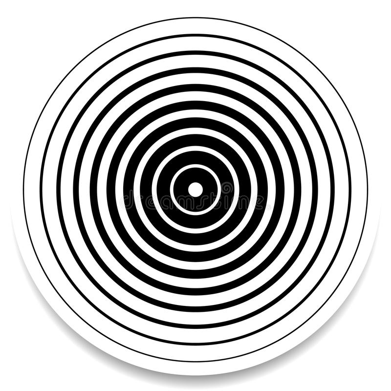 Free Concentric Circles, Rings Abstract Geometric Element. Ripple, Impact Effect Royalty Free Stock Photography - 81815467