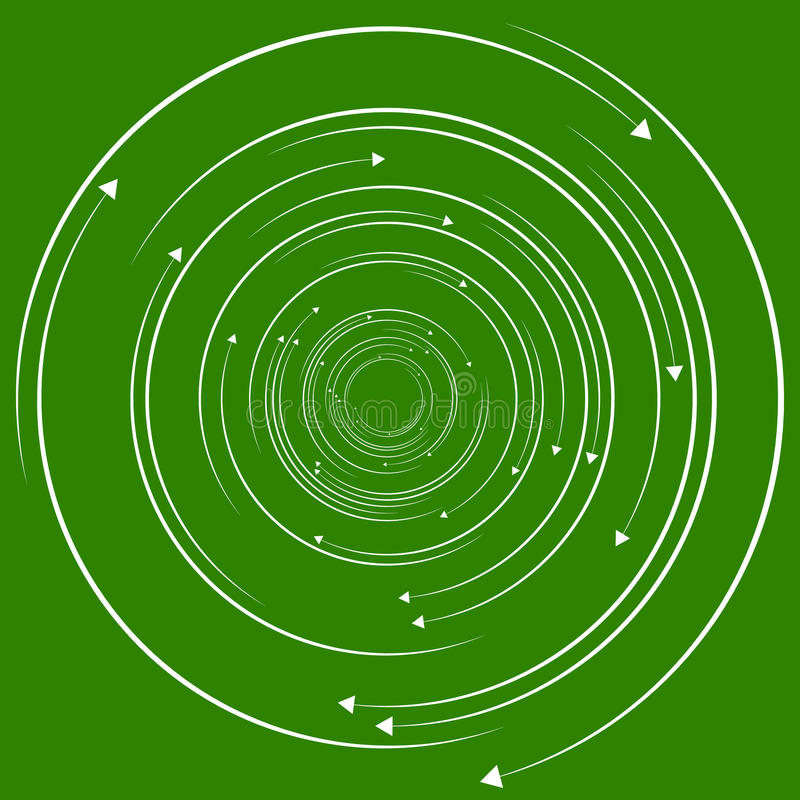 Concentric, circular arrows. Random dynamic circle arrows. Royalty free vector illustration royalty free illustration