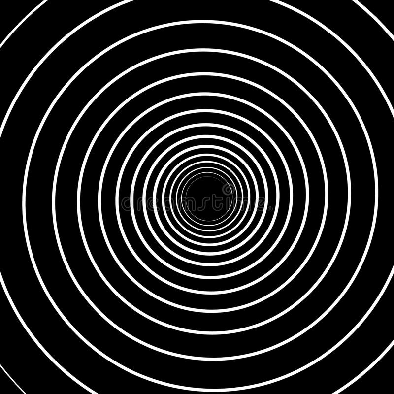 Concentric Lines. Spiral Background. Volute Hypnosis Circular stock illustration