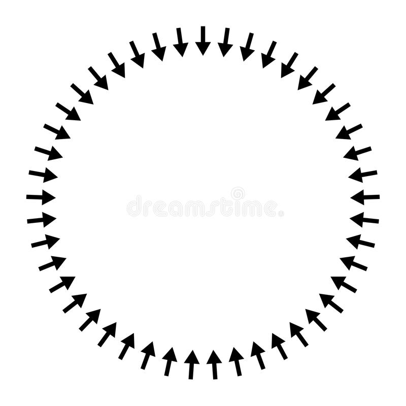 Radial Arrows Stock Illustrations – 403 Radial Arrows Stock