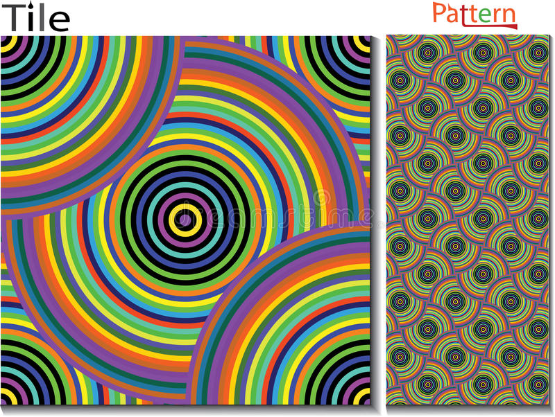 Concentric rings. Abstract background. Computer generated royalty free illustration