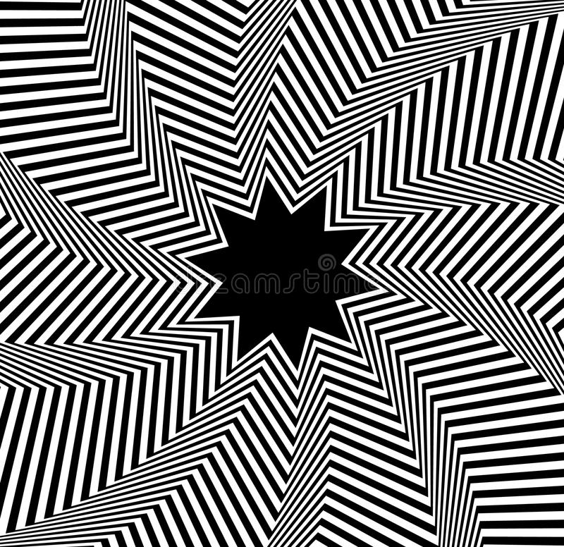 Concentric, rotating spiral element. Vector illustration. Royalty free vector illustration royalty free illustration