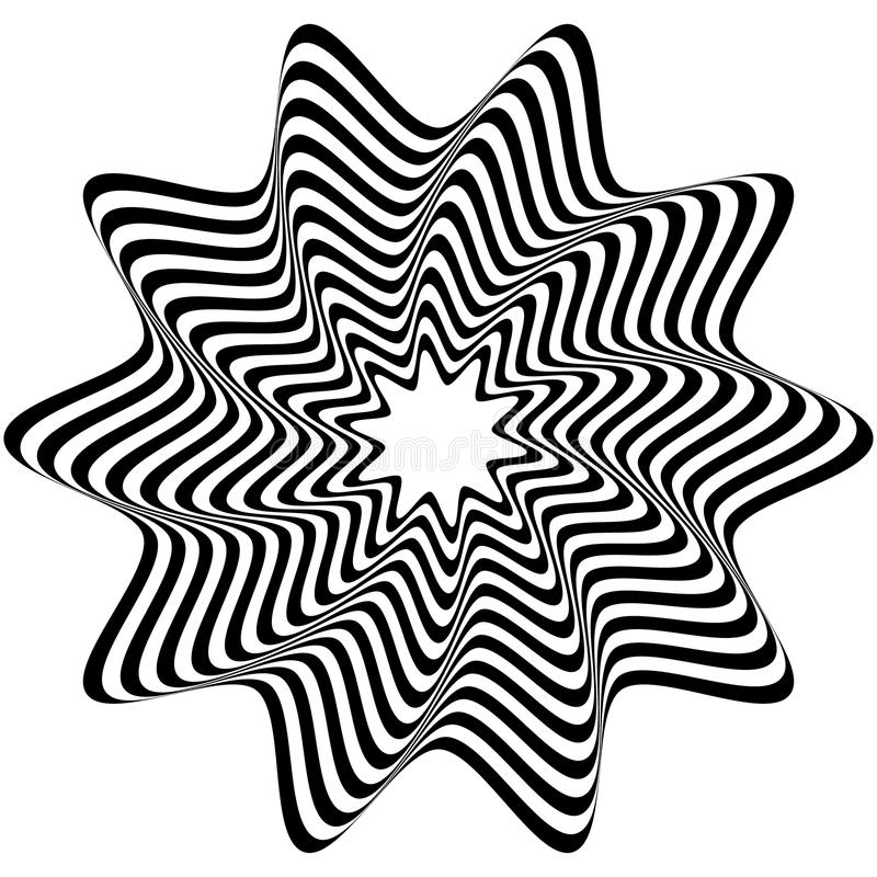 Concentric, rotating spiral element. Vector illustration. Royalty free vector illustration vector illustration