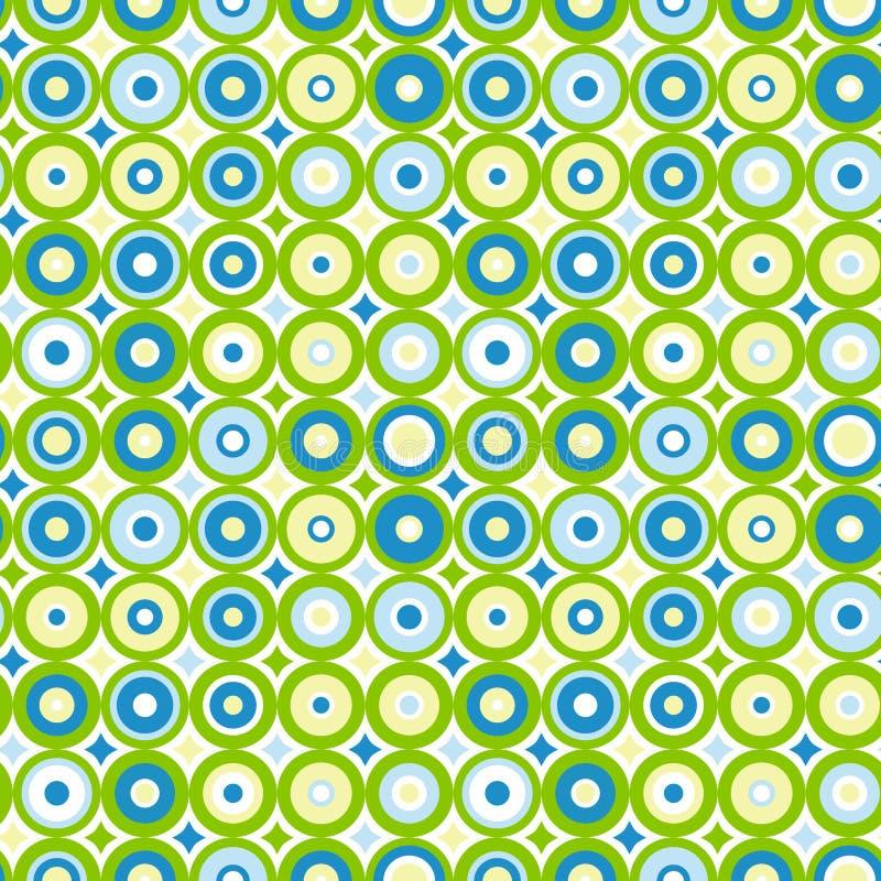 Concentrische cirkels naadloze achtergrond stock illustratie