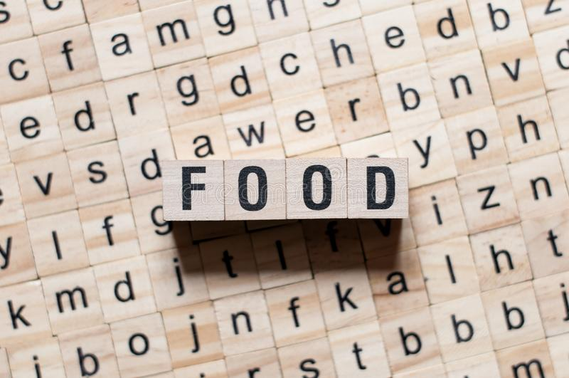 Conceot de la palabra de la comida fotografía de archivo