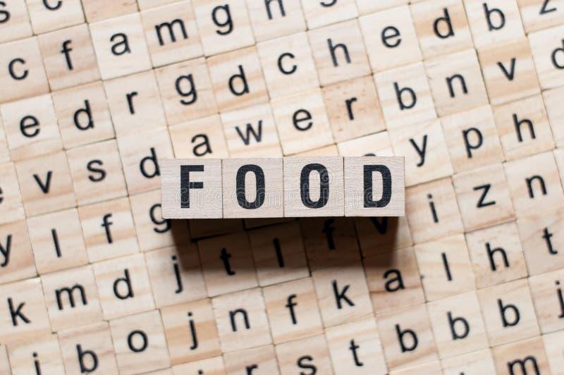 Conceot de mot de nourriture photographie stock
