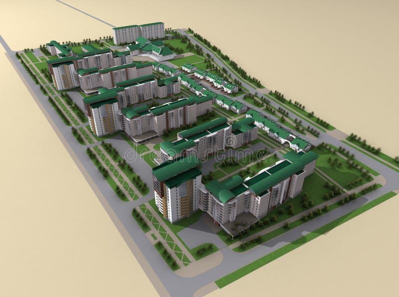 Concepção arquitectónica ilustração do vetor
