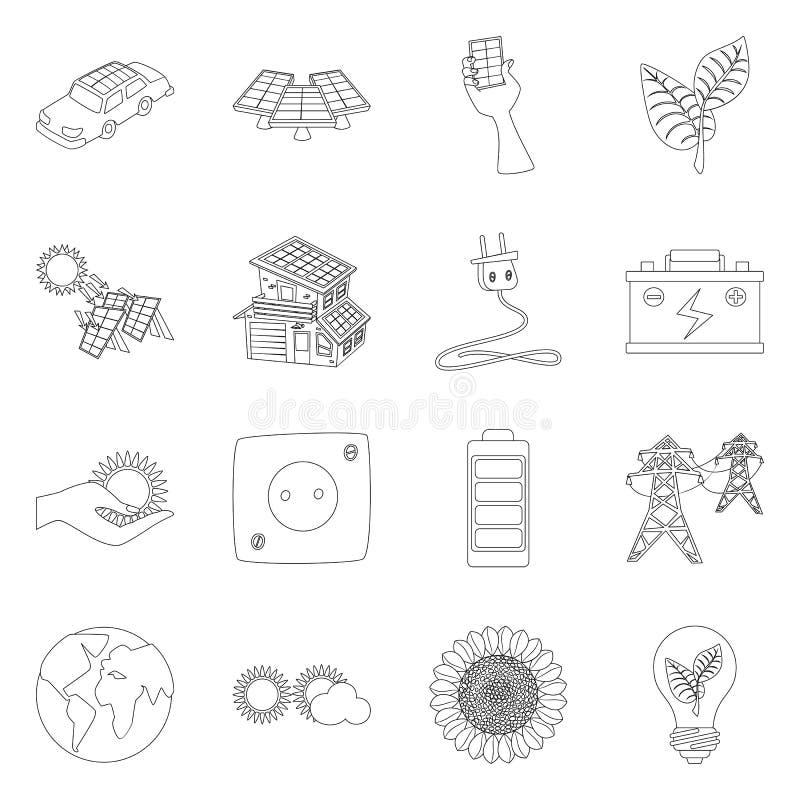 Concepção vetorial da inovação e do sinal tecnológico Coleção do símbolo da inovação e do patrimônio natural para a web ilustração stock