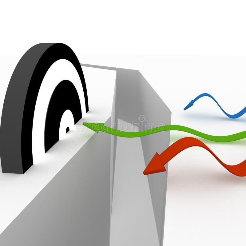 Concepções do sucesso ilustração do vetor
