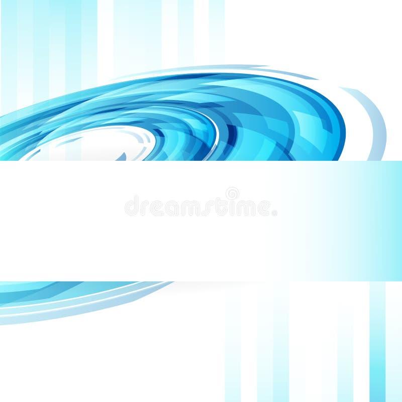 Concep de couverture de bannière de calibre de Web de technologie de cercles d'anneau de Digital illustration de vecteur