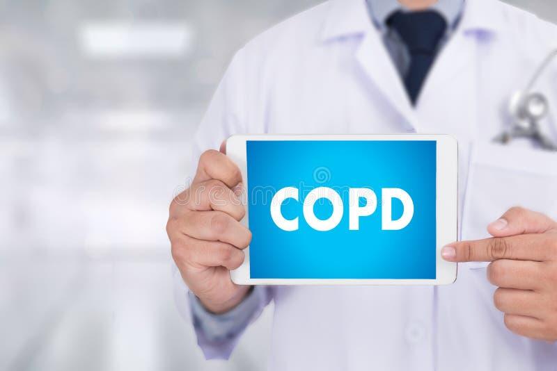 Concep för lung- sjukdom för COPD kronisk hindrande vård- medicinsk royaltyfria bilder
