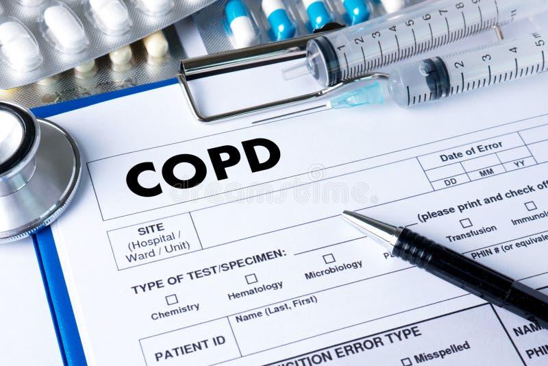 Concep médico de la salud de la enfermedad pulmonar obstructiva crónica de COPD fotos de archivo libres de regalías