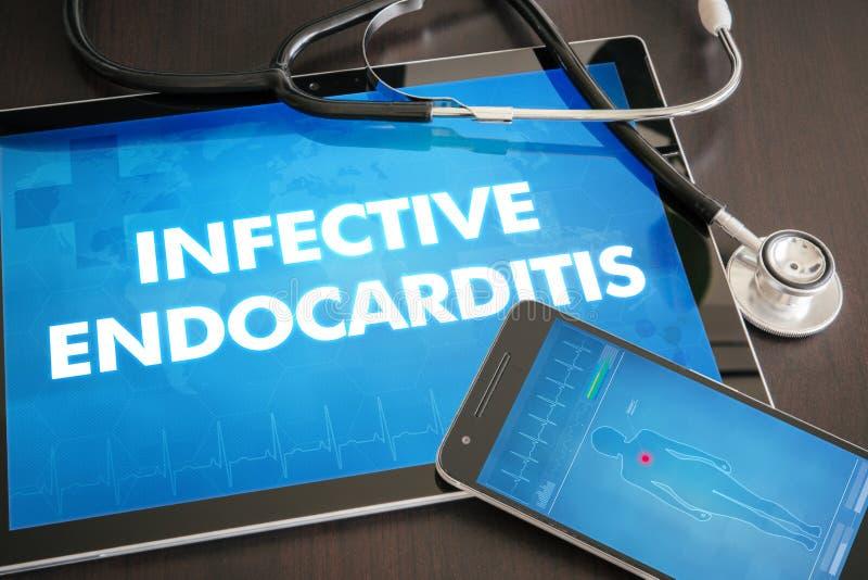 Concep médico do diagnóstico infeccioso da endocardite (desordem de coração) fotografia de stock