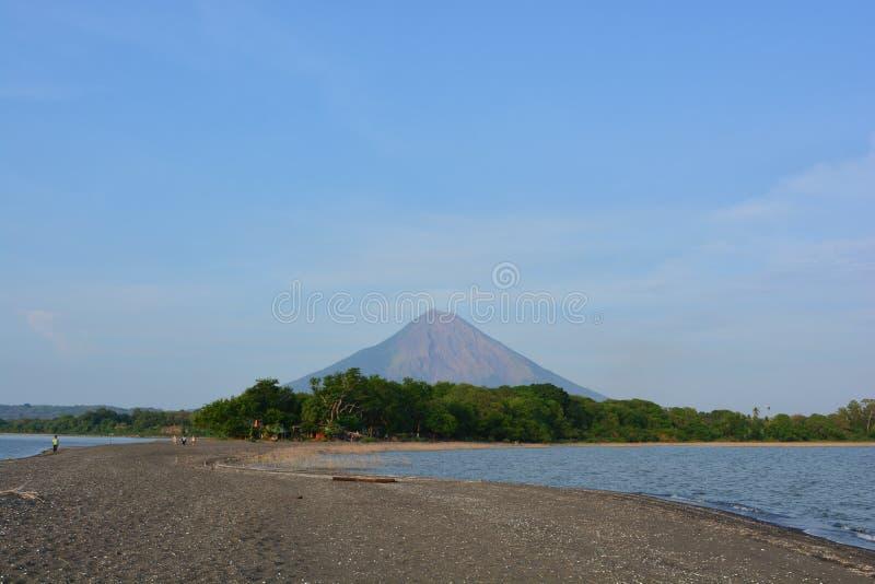 Concepcià ³ n wulkan przy Ometepe wyspą, Nikaragua zdjęcie royalty free