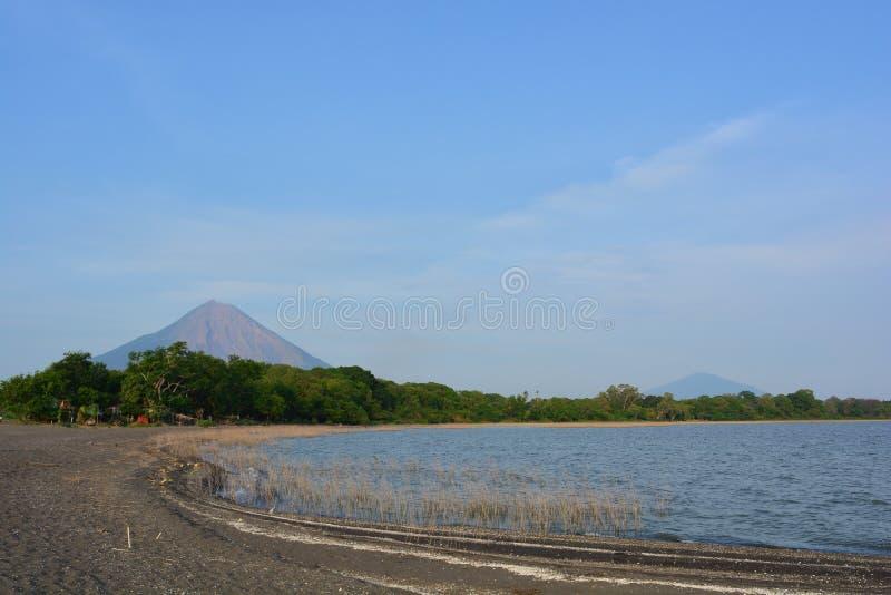 Concepcià ³ n wulkan przy Ometepe wyspą, Nikaragua zdjęcie stock