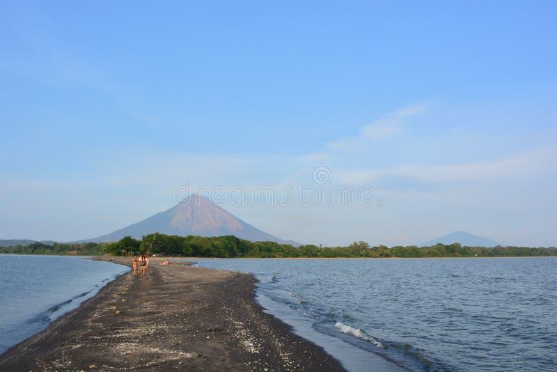 Concepcià ³ n wulkan przy Ometepe wyspą, Nikaragua obrazy stock