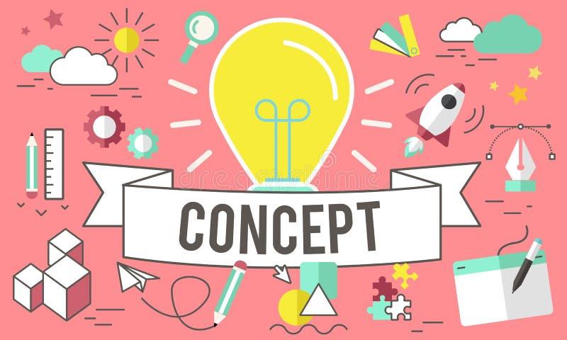 Conceptúe las ideas creativas inspiran concepto de la imaginación ilustración del vector