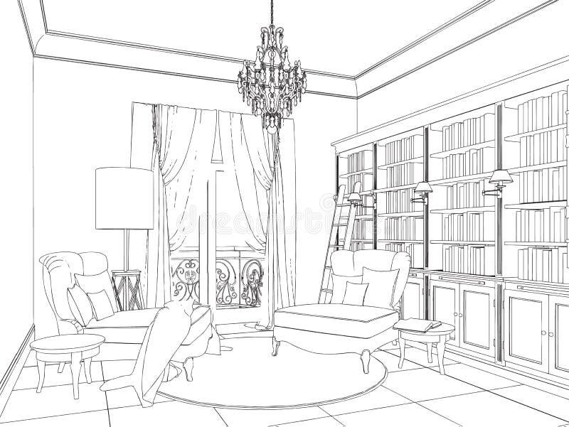 Concept à la maison avec de divers accessoires et illustration libre de droits