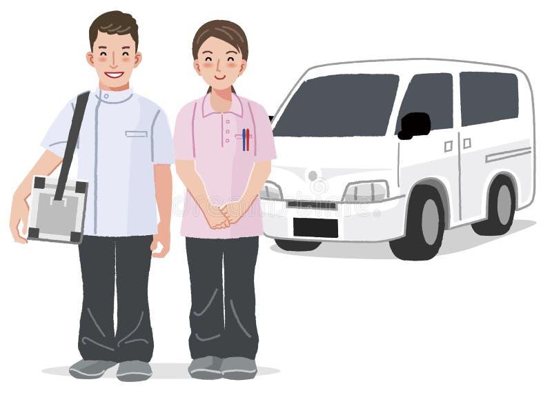 Concept à la maison de soins médicaux illustration de vecteur