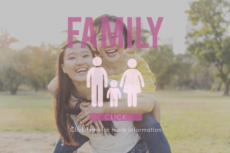 Concept à la maison relatif d'amour de généalogie de soin de famille image stock