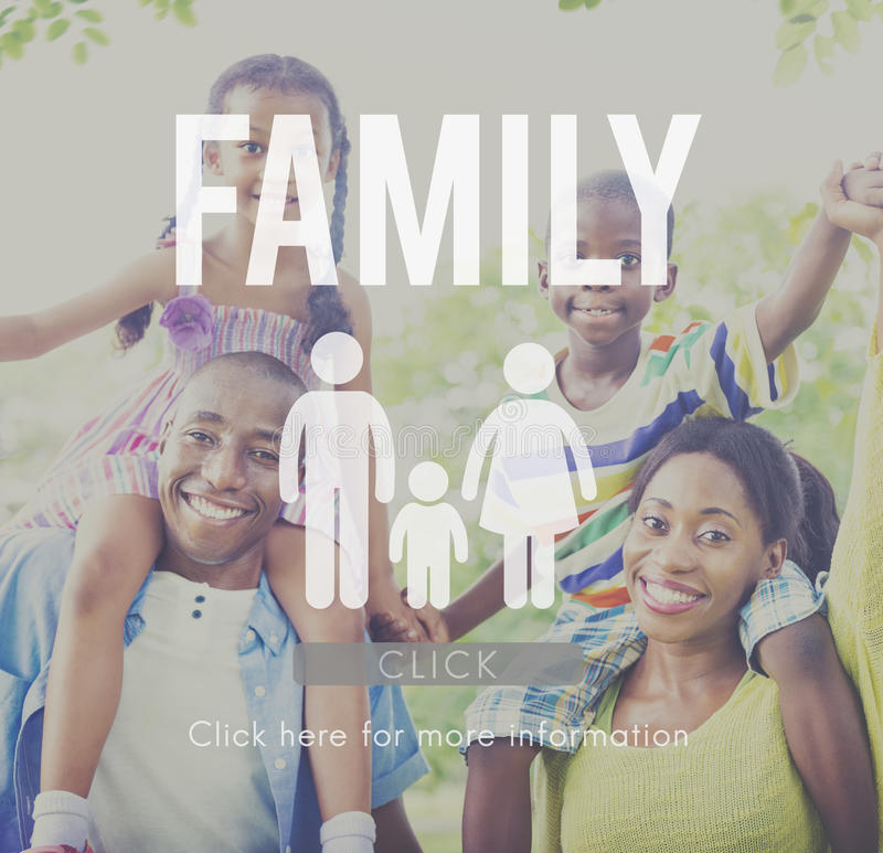Concept à la maison relatif d'amour de généalogie de soin de famille photographie stock libre de droits