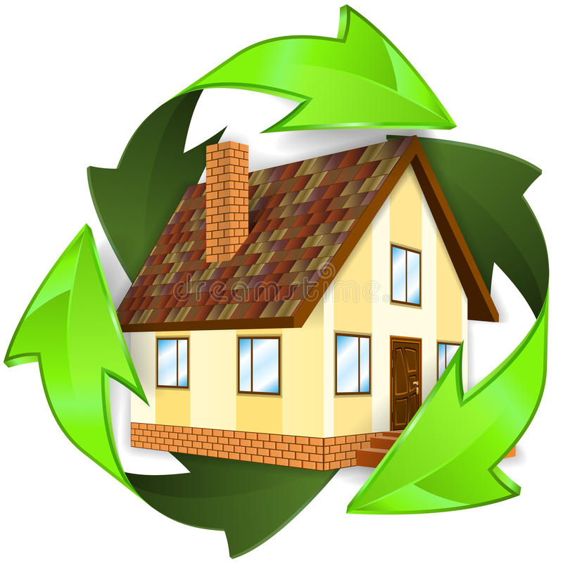 Concept écologique et économiseur d'énergie illustration libre de droits