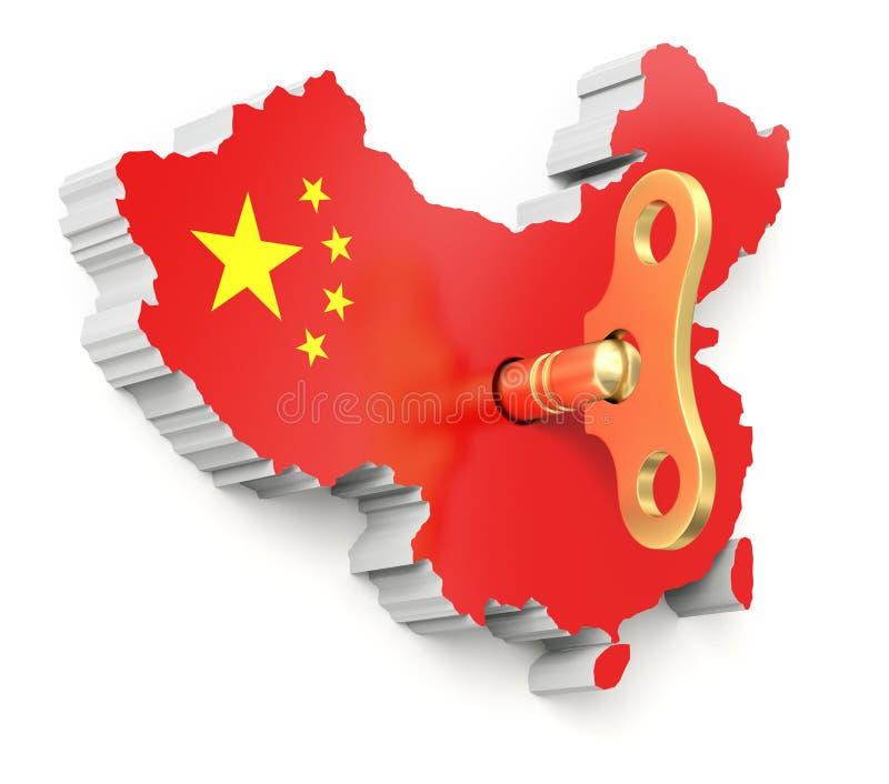 Concept économique chinois d'élan illustration stock