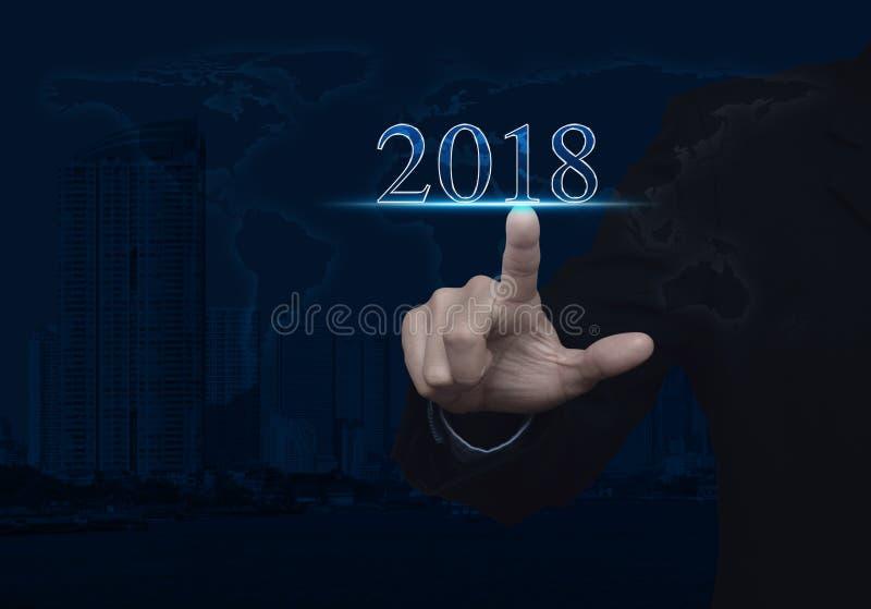 Concept 2018, éléments de bonne année de cette image meublés par photographie stock libre de droits