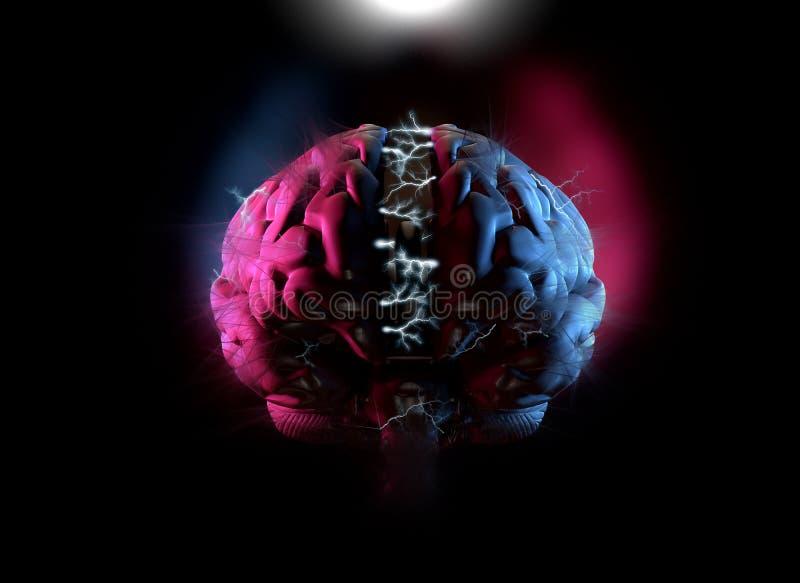 Concept électrique de cerveau illustration libre de droits